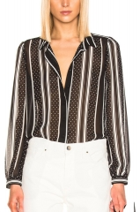 Mayi long sleeve striped blouse