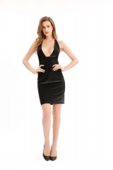 Black/Silver Mini Party Dress