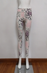 Flora printed yoga pants