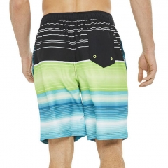 Fade color stripe swimming shorts for men