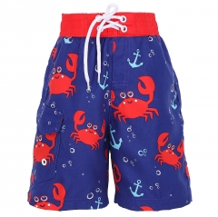 Sea creature print custom summer swim trunks