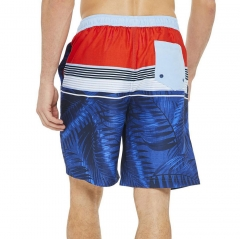 Stripe print beachwear for men